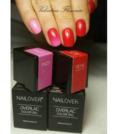 OVERLAC Gel Soak Off - RD16 NAILOVER RED  - 15 ml