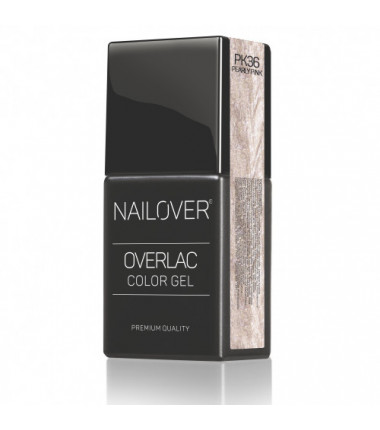 OVERLAC gel soak off - PK36 PEARLY PINK  - 15 ml