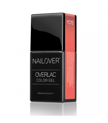 LIVING CORAL OVERLAC gel soak off - YO15 - 15 ml