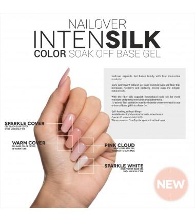 INTENSILK Sparkle White Color Soak Off Base Gel