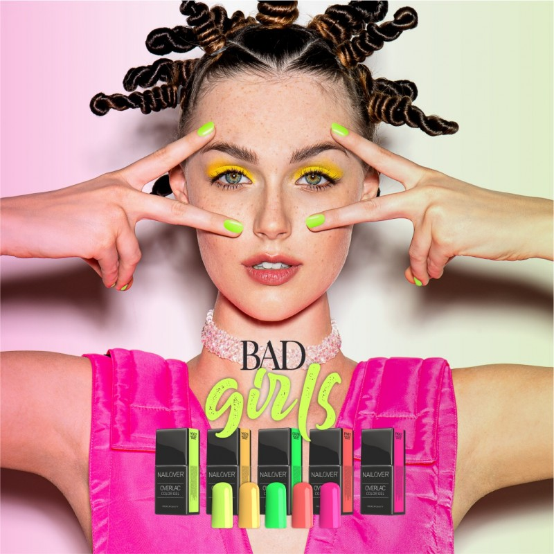 BAD GIRLS - 5 Farben als Set - OVERLAC gel soak off -  je 15 ml