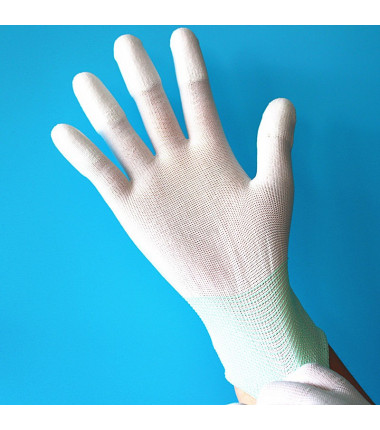 Gummierte Handschuhe Gr: S