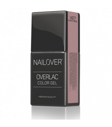 OVERLAC gel soak off - VI27 DUSTY ROSE  - 15 ml